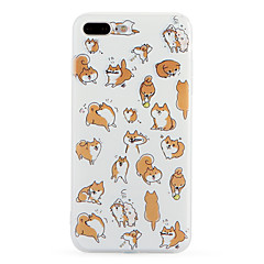 For Pattern Case Back Cover Case Dog Soft TPU for Apple iPhone 7 Plus iPhone 7