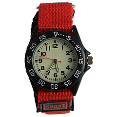 Kids' Fashion Watch Quartz / Fabric Band Casual Red Brand