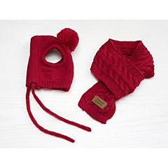 Perros Bandanas y Sombreros Rojo Azul Ropa para Perro Invierno Un Color Adorable Mantiene abrigado