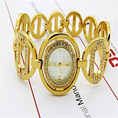 Women's Fashion Watch Simulated Diamond Watch Quartz Alloy Band Casual Silver Gold