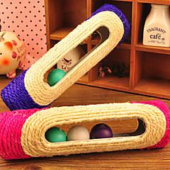 Zabawka dla kota Zabawka dla psa Zabawki dla zwierząt Wędki dla Kota Trwały Sznurkowy sizal Purple