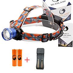 Hoofdlampen 2000 Lumens 3 Modus Cree XM-L T6 18650 Verstelbare focus Compact formaatKamperen/wandelen/grotten verkennen Dagelijks gebruik