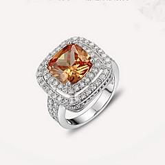 Ring Silver Zircon Cubic Zirconia Simulated Diamond Fashion Silver Jewelry Daily Casual 1pc