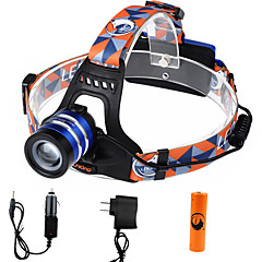 U'king ZQ-G70000CBlue CREE T6 LED 2000LM 3Mode Adjustable Focus Headlamp Bike Light Kit for Camping/Hiking/Caving Everyday Use Cycling