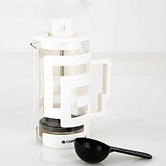 350 ml Plastic Cam Fransız basın , 3 su bardağı Brew Coffee Maker Yeniden kullanılabilir
