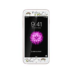 iPhone 6 / 6s plus 5.5inch karkaistu lasi läpinäkyvä edessä näytön suojakalvon kanssa emboss piirretty kuvio loistaa pimeässä sateenkaaren