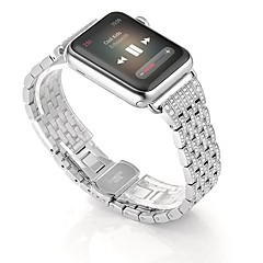 Watch band for apple watch series 2-sarja 1 ruostumaton teräs rannekoru hihna rhinestone timantti