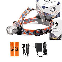 Czołówki 2000 Lumenów 3 Tryb Cree XM-L T6 18650 Regulacja promienia Niewielki rozmiarObóz/wycieczka/alpinizm jaskiniowy Do użytku