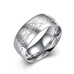 Ringar Dagligen Casual Smycken Rostfritt stål Försilvrad Ring 1st,7 8 9 10 Silver