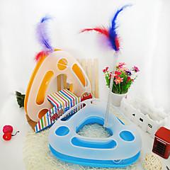 Jucărie Pisică Jucării Animale Interactiv Reclame Jucării Pană Tuburi & Tuneluri Jucărie ȘoareceȚipăt ascuțit Disc Minge Urmărire Scratch