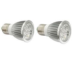 4W E14 GU10 E27 Luces LED para Crecimiento Vegetal 4 LED de Alta Potencia 360-400 lm Rojo Azul V 2 piezas