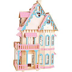 Jigsaw Puzzles DIY KIT Building Blocks 3D Puzzles Educational  Color Gothic Big House Wooden Building Blocks DIY Toys Famous Buildings