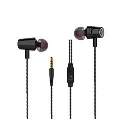 New Langsdom R36 Metal Heavy bass headphones with mircophone Thread line stereo music earphone for iphone samsung huawei xiaomi