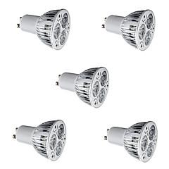 GU10 LED-spotpærer MR16 3 Høyeffekts-LED 500 lm Varm hvit Kjølig hvit AC 85-265 V 5 stk.