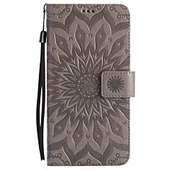 For Huawei Mate 9 Mate 8 PU Leather Material Sun Flower Pattern Embossed Phone Case Mate 7 P9 Lite P9 P8 Lite Y6 II Y5 II Honor 6X Honor 6 Honor 7i