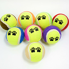 Dog Toy Pet Toys Ball Chew Toy Durable Footprint Halloween Tennis Ball Rubber