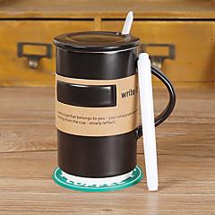 κλασικό drinkware σημείωμα, 500 ml συμπίεση κεραμική κούπα χυμό καφέ με στυλό σήμα