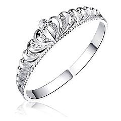 Damskie Bransoletki cuff Kryształ górski Posrebrzany Modny Crown Shape Silver Biżuteria 1szt