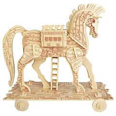 Puzzles Holzpuzzle Bausteine Spielzeug zum Selbermachen Sphäre Pferd 1 Holz Elfenbein Model & Building Toy
