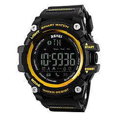 SKMEI גברים לנשים שעוני ספורט שעון חכם שעון יד דיגיטלי LCD שלט רחוק לוח שנה עמיד במים אזעקה מד צעדים שעון עצר גומי להקה מגניב יוקרתישחור