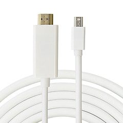 Male to Male 1.8M Mini DP to HDMI Cable Mini Displayport to HDMI Adapter for Macbook Pro Air for iMac