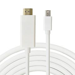 męski na męski 1.8m mini DP HDMI Mini DisplayPort na HDMI adapter dla MacBook Pro powietrza dla iMac