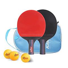 Ping Pang/Πινγκ πονγκ Ρακέτες Ping Pang Ξύλο Κοντή Λαβή Σπυράκια 2 Ρακέτα 1 Τσάντα επιτραπέζιου τένις 3 Μπάλες
