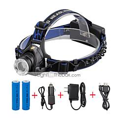 Pandelamper LED 2000 Lumen 3 Tilstand Cree XM-L T6 18650 Komapkt Størrelse ZoombarCamping/Vandring/Grotte Udforskning Dagligdags Brug