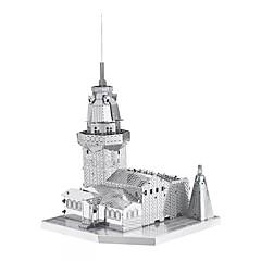 3D-puslespil Metalpuslespil Til Gave Byggeklodser Model- og byggelegetøj Berømt bygning Arkitektur Metal 14 år og op efter Pink Legetøj