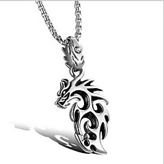 Men's Pendants Titanium Steel Animal Shape Basic Fashion Gold White Jewelry Daily Casual 1pc