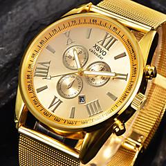 Sportsklocka Militärklocka Frackur Modeklocka Armbandsur Armbandsklocka Quartz Stor urtavla Rostfritt stål BandVintage Berlock Armring