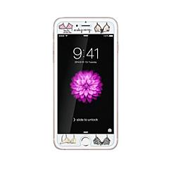 voor Apple iPhone 6 / 6s plus 5.5inch gehard glas transparante voorkant screen protector met reliëf cartoon patroon glow in the dark bras