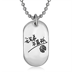 Men's Women's Pendant Necklaces Jewelry Titanium Steel Jewelry Dangling Style Fashion Personalized Hip-Hop Silver JewelryParty Special