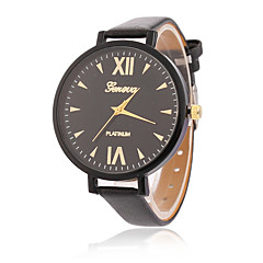 Fashion Watch Quartz Leather Band Casual Black White Blue Red Green Pink Yellow
