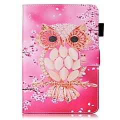 Для Чехлы панели Кошелек Бумажник для карт со стендом Флип С узором Чехол Кейс для Сова Твердый Искусственная кожа для AppleiPad Mini 4