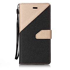 For Huawei P10 P8 Lite (2017) Case Cover Two Colors Stitching Card Stent Lanyard PU Material Phone Case Mate9 NOVA P9Lite Y6II Y5II