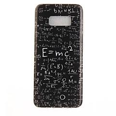 Varten IMD Kuvio Etui Takakuori Etui Sana / lause Pehmeä TPU varten Samsung S8 S8 Plus S7 edge S7 S6 edge S6