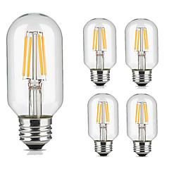 4W E27 Lâmpadas de Filamento de LED 4 COB 360 lm Branco Quente Branco Frio Decorativa AC 220-240 V 5 pçs