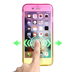 Mert Ultra-vékeny Case Teljes védelem Case Színátmenet Puha TPU mert AppleiPhone 7 Plus iPhone 7 iPhone 6s Plus iPhone 6 Plus iPhone 6s