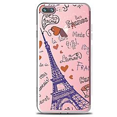 Mert Átlátszó Minta Case Hátlap Case Szó / bölcselet Eiffel torony Puha TPU mert AppleiPhone 7 Plus iPhone 7 iPhone 6s Plus iPhone 6 Plus