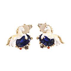 Κουμπωτά Σκουλαρίκια Κρυστάλλινο Άνιμαλ Μοντέρνα Λατρευτός Euramerican Λευκό Κοσμήματα Για Γάμου Πάρτι Γενέθλια 1 ζευγάρι