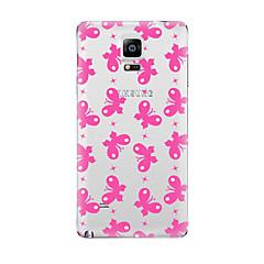 Varten Läpinäkyvä Kuvio Etui Takakuori Etui Perhonen Pehmeä TPU varten Samsung Note 5 Note 4 Note 3 Note 2