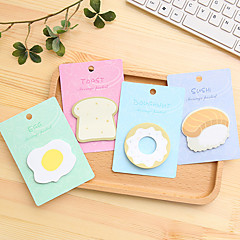 1 PCS Breakfast Food Cute Self-Stick Notes