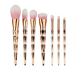 7 Brush Sets Blushkwast Oogschaduwkwast Lippenkwast Wenkbrauwkwast Poederkwast Foundationkwast Contour Brush Nylonkwast Synthetisch haar