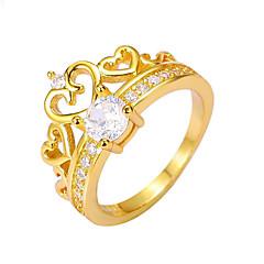 Dames Bandringen Ring Liefde Hart Modieus Kostuum juwelen Koper Ronde vorm Hartvorm Sieraden Voor Bruiloft Feest Verloving