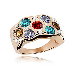 Women's Band Rings Jewelry Basic Flower Style Euramerican Gemstone Chrome Jewelry Jewelry For Party Special Occasion Gift