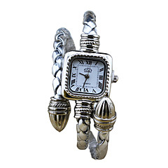 Women Unique Creative Watch Quartz Leather Band Black White Blue Silver Red Brown Gold Pink Navy