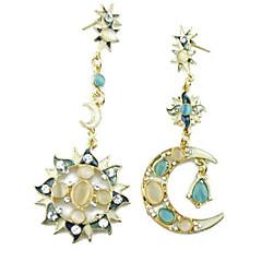Kolczyki wiszące Oświadczenie Biżuteria Akrylowy Stop MOON As Picture Biżuteria Na Impreza Casual 1 para