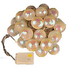 1PC 5W String Lights lm 5V 4 m 20 leds Warm White RGB  Festive Furnishing LED  String Light