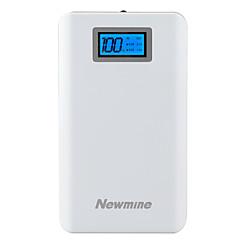 Newmine® 13000mAh power bank 2A external battery Multi-Output with Cable Flashlight